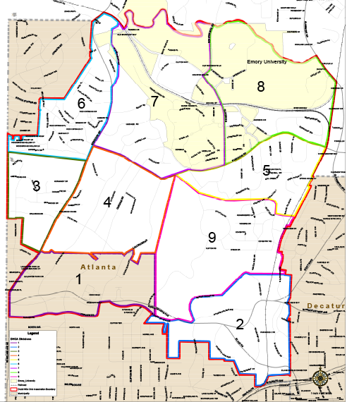 Druid Hills Division Map